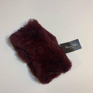 Marcus Adler burgundy ombré fur headband